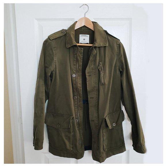 Zara Jackets & Blazers - zara: military green jacket
